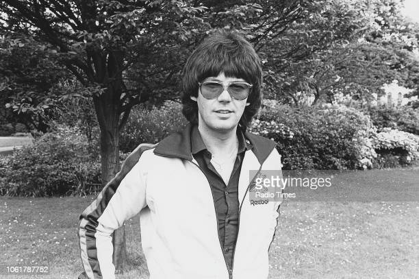 Outdoor portrait of BBC Radio 1 disc jockey Mike Read May 12th 1981