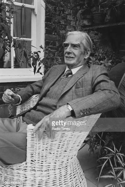 Outdoor portrait of former British Prime Minister Anthony Eden 1st Earl of Avon 1974