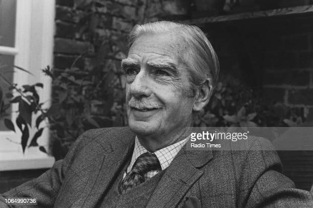 Outdoor portrait of former British Prime Minister Anthony Eden 1st Earl of Avon 1974