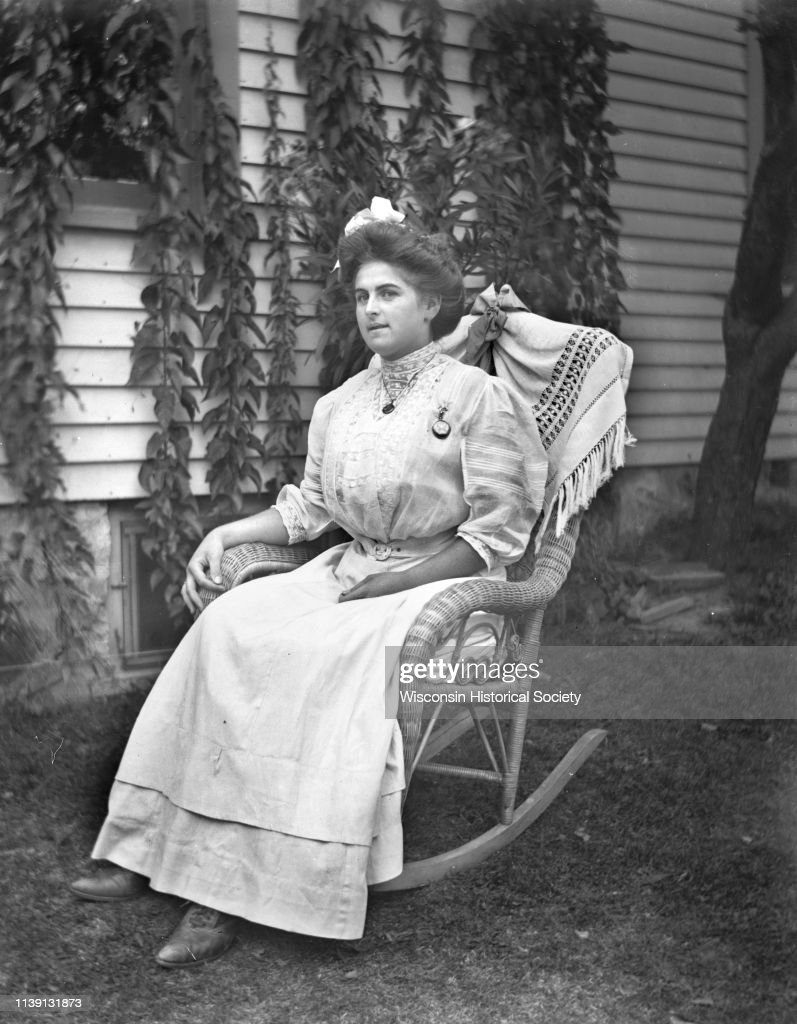 Admirable Outdoor Portrait Of Hattie Fels Owen Sitting In A Rocking Pdpeps Interior Chair Design Pdpepsorg