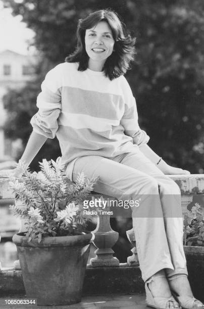 Outdoor portrait of journalist and television presenter Joan Bakewell circa 1978