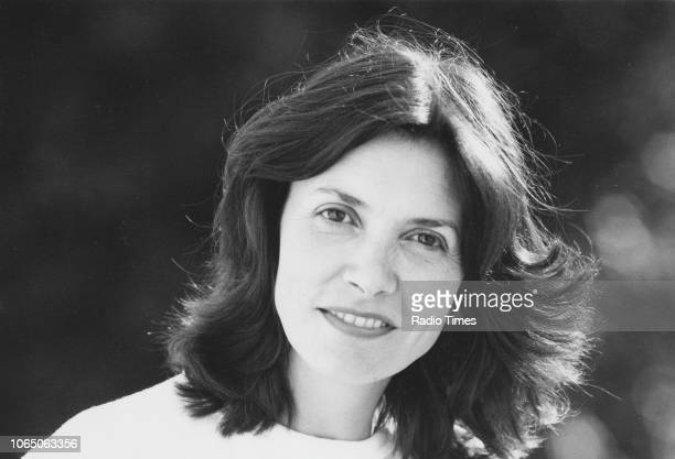 Outdoor portrait of journalist and television presenter Joan Bakewell June1978