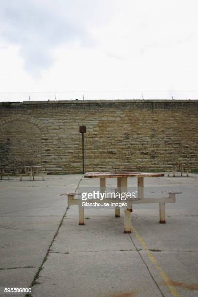 Outdoor Prison Courtyard and Sitting Area