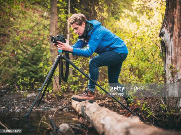 outdoor recreation people - tripod stock pictures, royalty-free photos & images