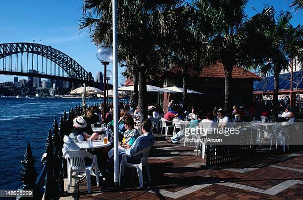 Outdoor restaurant at Circular Quay.