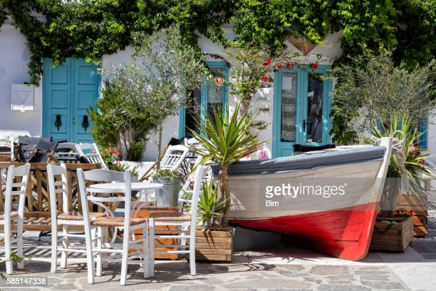 Outdoor Restaurant, Paros, Cyclades, Greece
