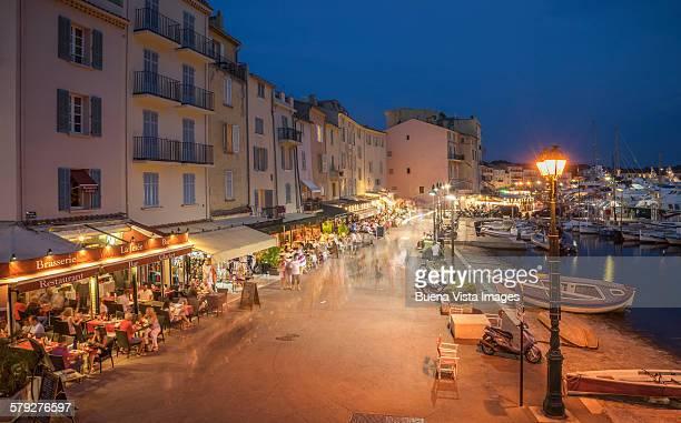 Outdoor restaurants in St. Tropez