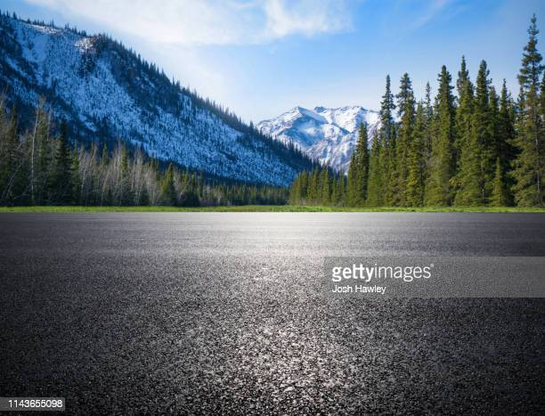 outdoor road and parking lot - forest road stock pictures, royalty-free photos & images