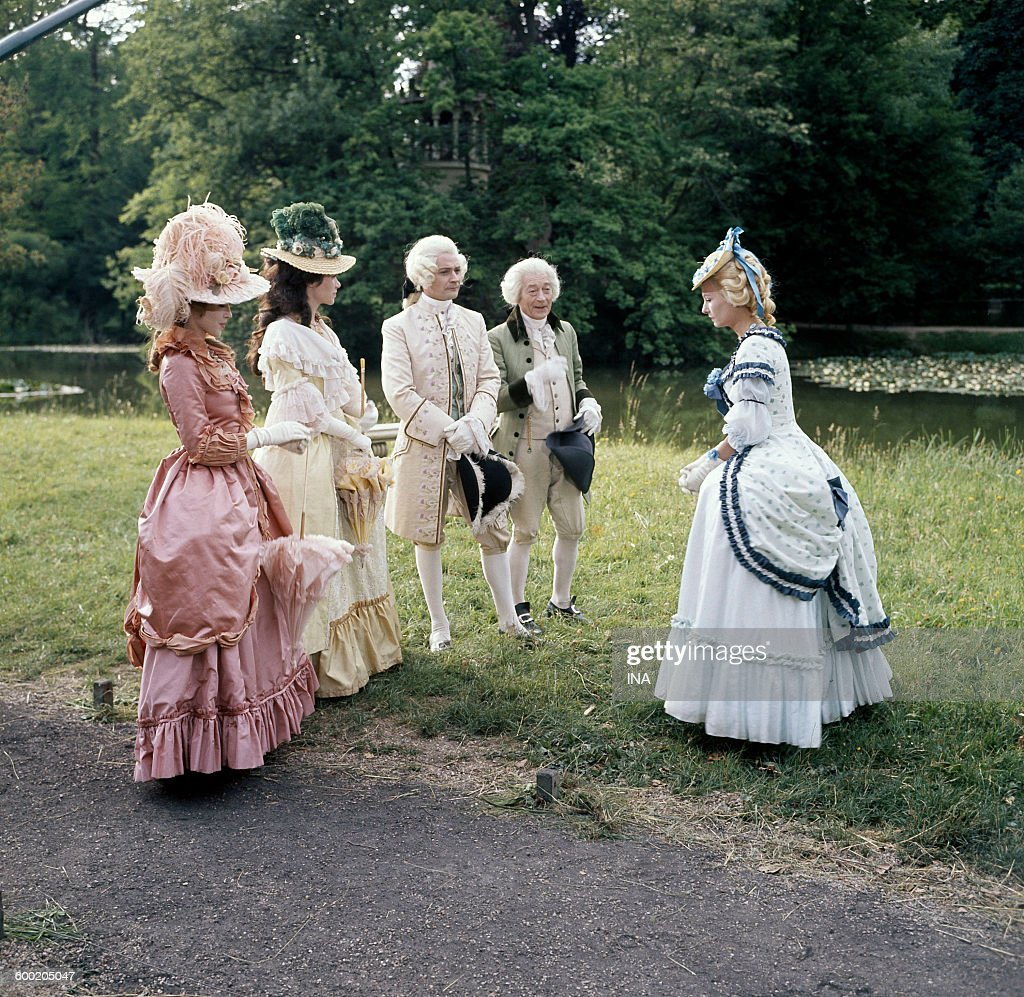 """Outdoor, scene of the serial """"Marie Antoinette"""", with Geneviève ..."""