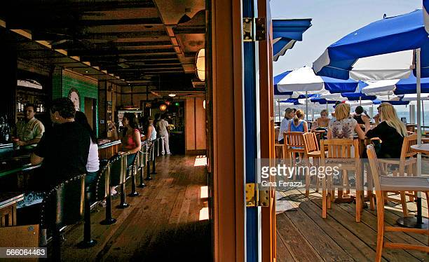 Outdoor seating for the Beachcomber restaurant is adjacent to the Malibu Pier Club left on the pier in Malibu on August 9 2008