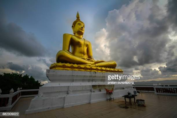 outdoor sitting buddha image - chanthaburi stock pictures, royalty-free photos & images