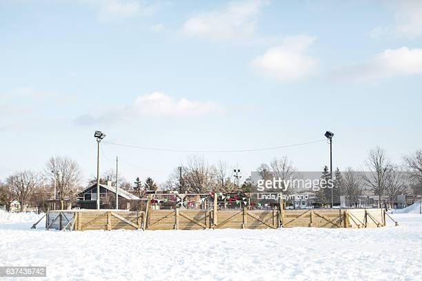outdoor skating rink - ice rink stock pictures, royalty-free photos & images