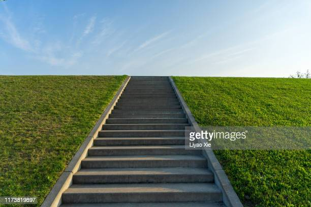 outdoor stairs - liyao xie stock pictures, royalty-free photos & images