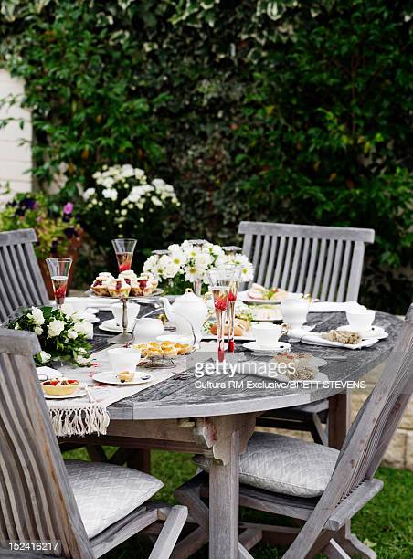 Outdoor table set for lunch