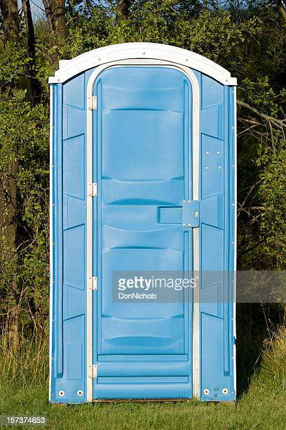 outdoor toilet - portable toilet stock photos and pictures