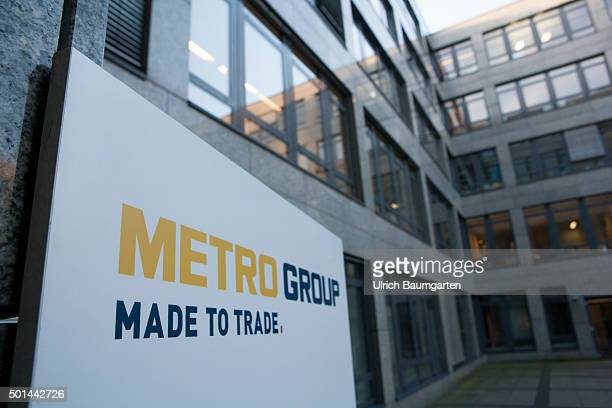 Outdoor view Administration building of the Metro AG with the lettering Metro Group