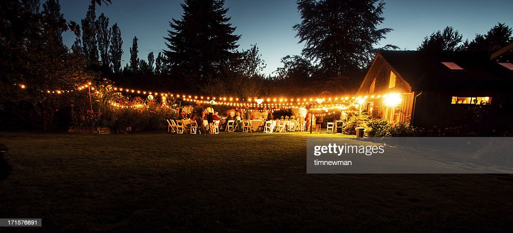 Outdoor Wedding Reception Stock Photo Getty Images