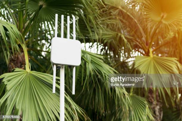 Outdoor wifi router. The street transmitter of the Internet signal