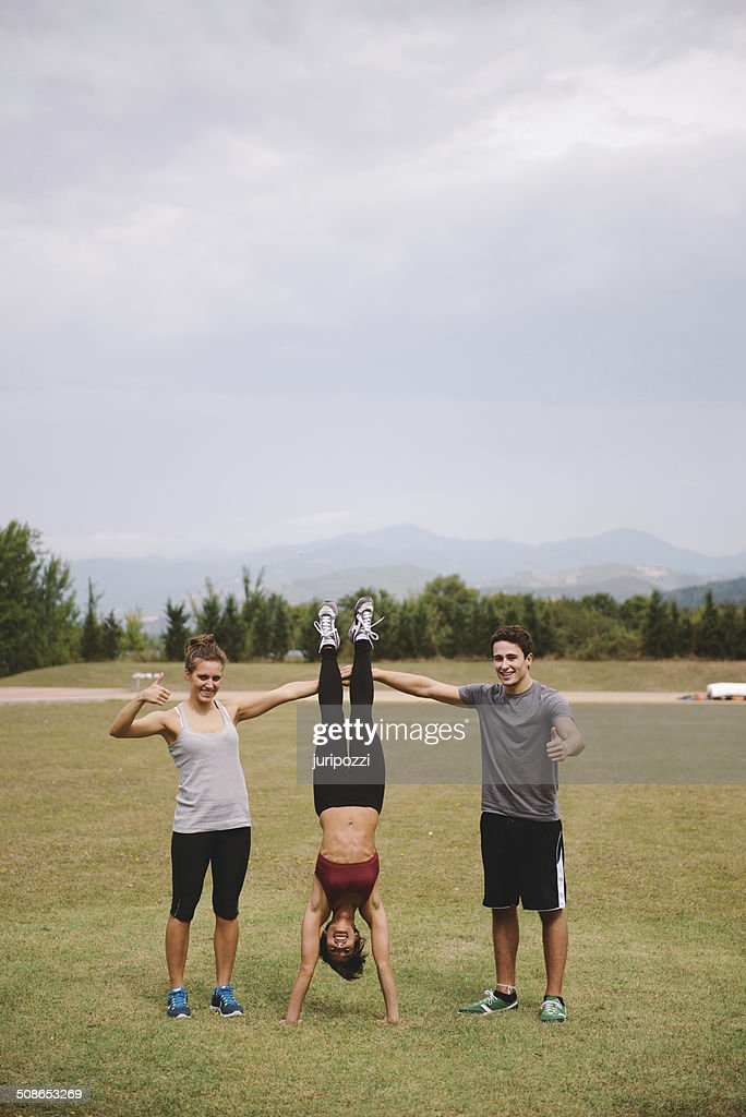Outdoor workout : Stock Photo