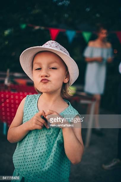 outdoors birthday party - like button stockfoto's en -beelden