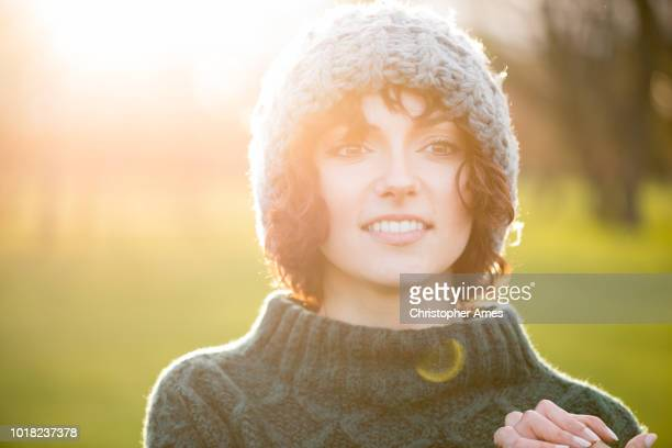 Outdoors Cold Weather Portrait of Young Woman