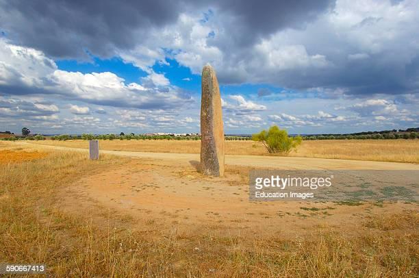 Outeiro Menhir Megalithic Site near Monsaraz Outeiro Evora district Alentejo Portugal Europe