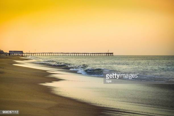 outer banks beach at sunset - outer banks stock pictures, royalty-free photos & images