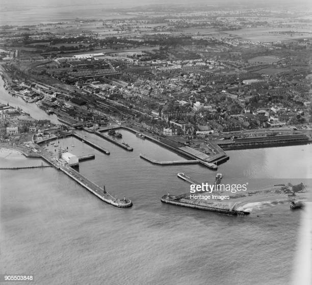 Outer Harbour and Waveney Dock Lowestoft Suffolk 1958 Photographed by Aerofilms Ltd in 1958 Artist Aerofilms