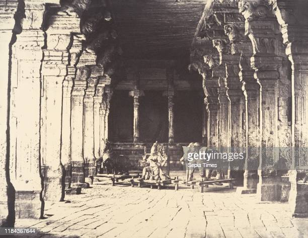Outer Prakarum on the North Side of the Temple of the God Sundareshwara, January-March 1858, Albumen silver print from dry collodion on glass...