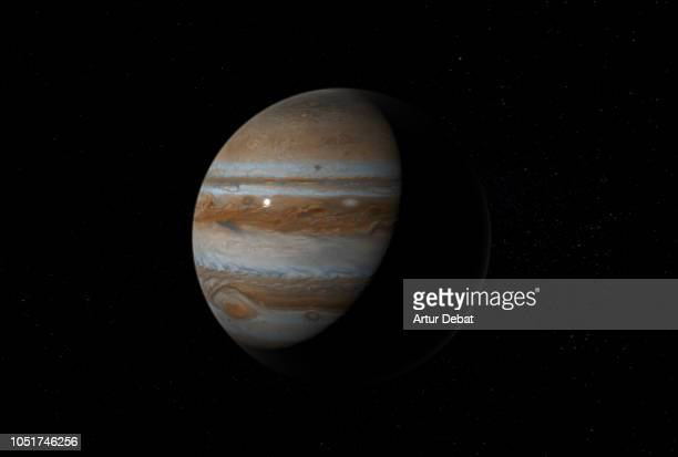 Outer space exploration with Jupiter planet.