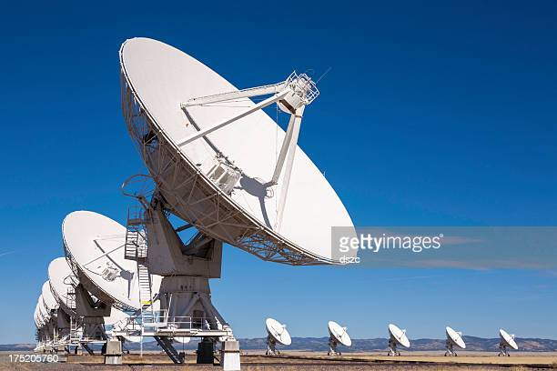 vla outer space radio telescope array - receiver stock pictures, royalty-free photos & images