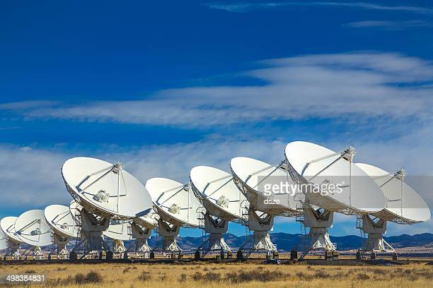 vla outer space radio telescope array, socorro, new mexico - receiver stock pictures, royalty-free photos & images