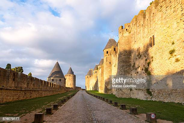 Outer walls of the old city of Carcassonne, France