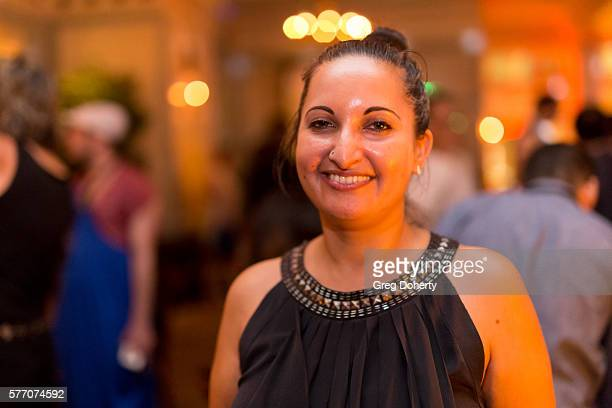 """Outfest Director of Programming Lucy Mukerjee-Brown poses for a picture at the 2016 Outfest Los Angeles Closing Night Gala Of """"Other People"""" After..."""