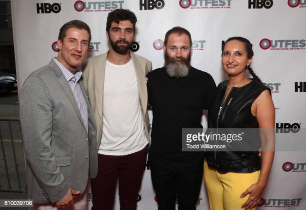 Outfest Executive Director Christopher Racster Alec Secareanu Francis Lee and Outfest Programmer Lucy MukerjeeBrown attend the 2017 Outfest Los...