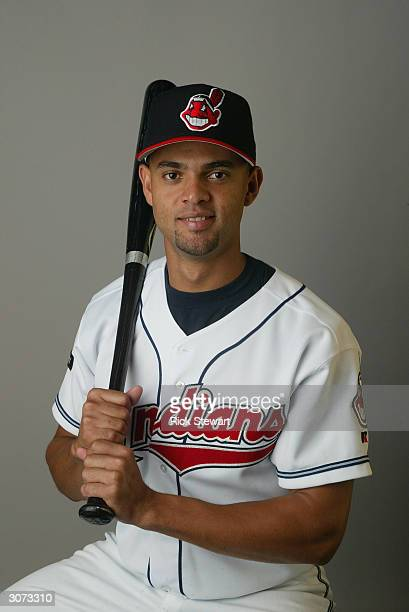 Outfielder Alex Escobar of the Cleveland Indians poses during Media Day on March 2 2004 at Chain O Lakes Park in Winter Haven Florida