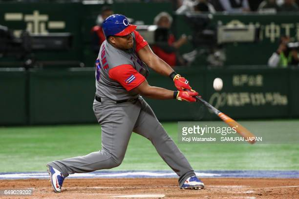 Outfielder Alfredo Despaigne of Cuba at bat in the top of the fourth inning during the World Baseball Classic Pool B Game One between Cuba and Japan...
