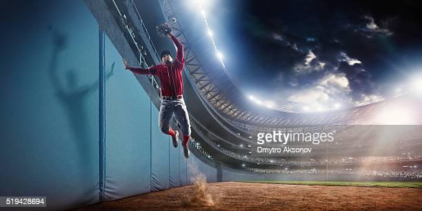 Outfielder Catching Baseball