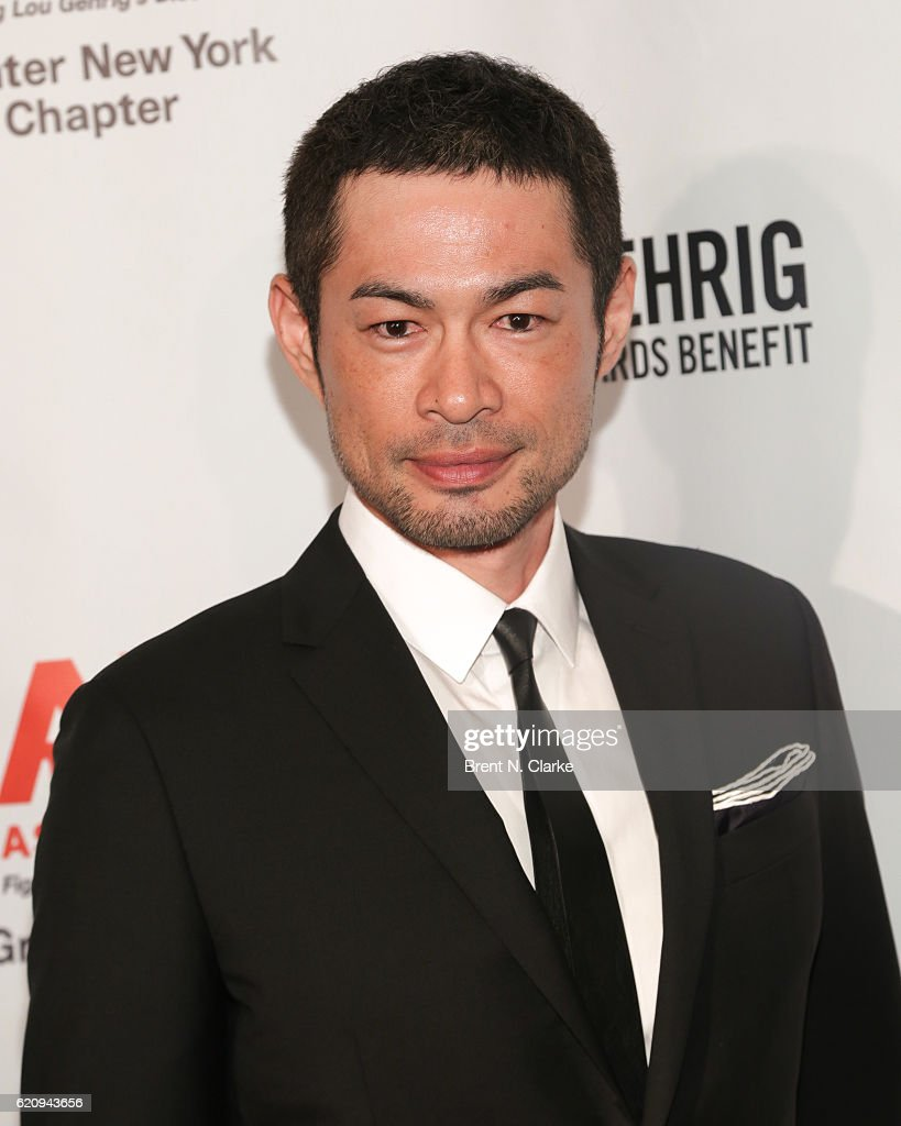 Outfielder for the Miami Marlins/event honoree Ichiro Suzuki attends the 22nd Annual Lou Gehrig Sports Awards Benefit held at the New York Marriott Marquis Hotel on November 3, 2016 in New York City.