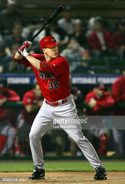 Outfielder Jason Bay of Team Canada bats against Team South Africa during the Round 1 Pool B Game of the World Baseball Classic on March 7, 2006 at...