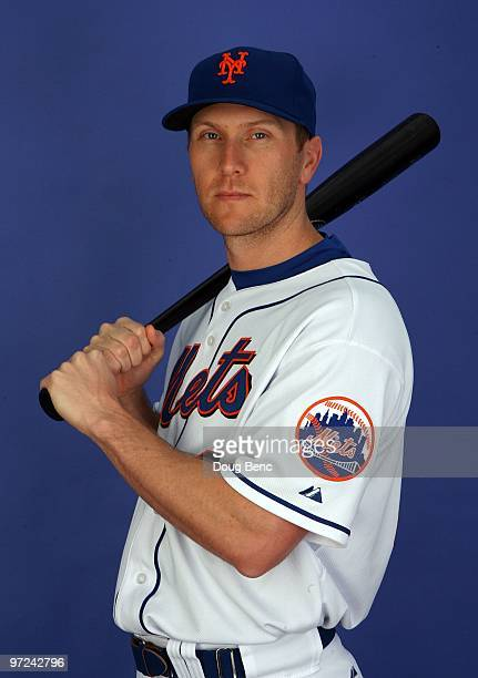 Outfielder Jason Bay of the New York Mets poses during photo day at Tradition Field on February 27 2010 in Port St Lucie Florida