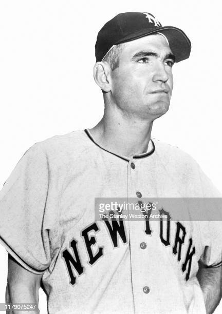 Outfielder Jim Dusty Rhodes of the New York Giants poses for a portrait circa 1952
