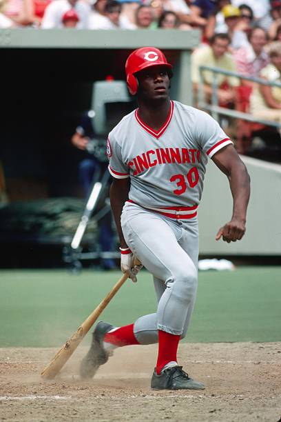 cf9aab1f41 PITTSBURGH - JULY 1976: Outfielder Ken Griffey, Sr. #30 of the Cincinnati  Reds bats against the Pittsburgh Pirates at Three Rivers Stadium in July  1976 in ...