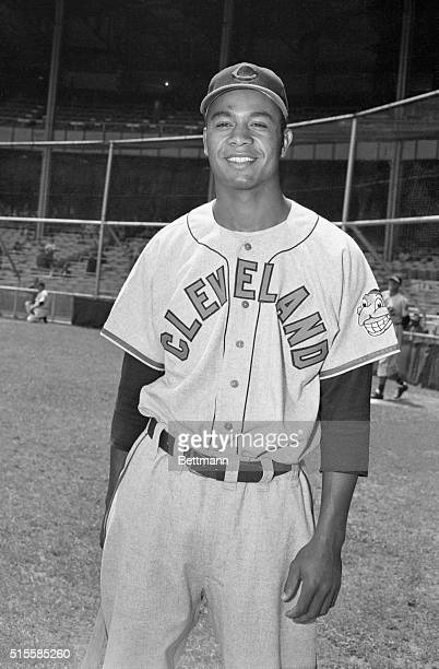 Outfielder Larry Doby of the Cleveland Indians Doby was the first African American to play in the American League