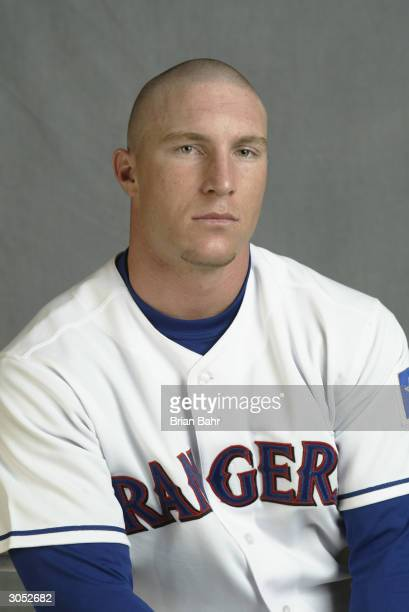 Outfielder Laynce Nix of the Texas Rangers poses for a picture during Texas Rangers Media Day at Surprise Stadium on February 26 2004 in Surprise...