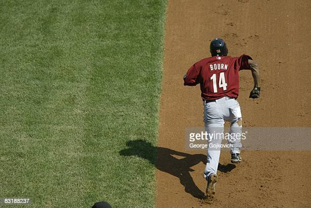 Outfielder Michael Bourn of the Houston Astros attempts to steal second base during a game against the Pittsburgh Pirates at PNC Park on September 21...