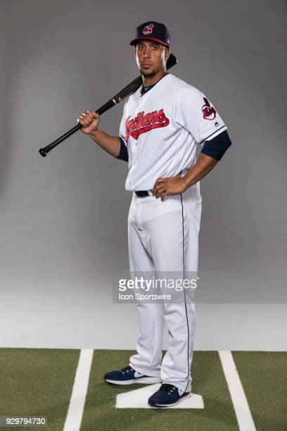 Outfielder Michael Brantley poses for a photo during the Cleveland Indians photo day on Wednesday Feb 21 2018 at Goodyear Ballpark in Goodyear Ariz