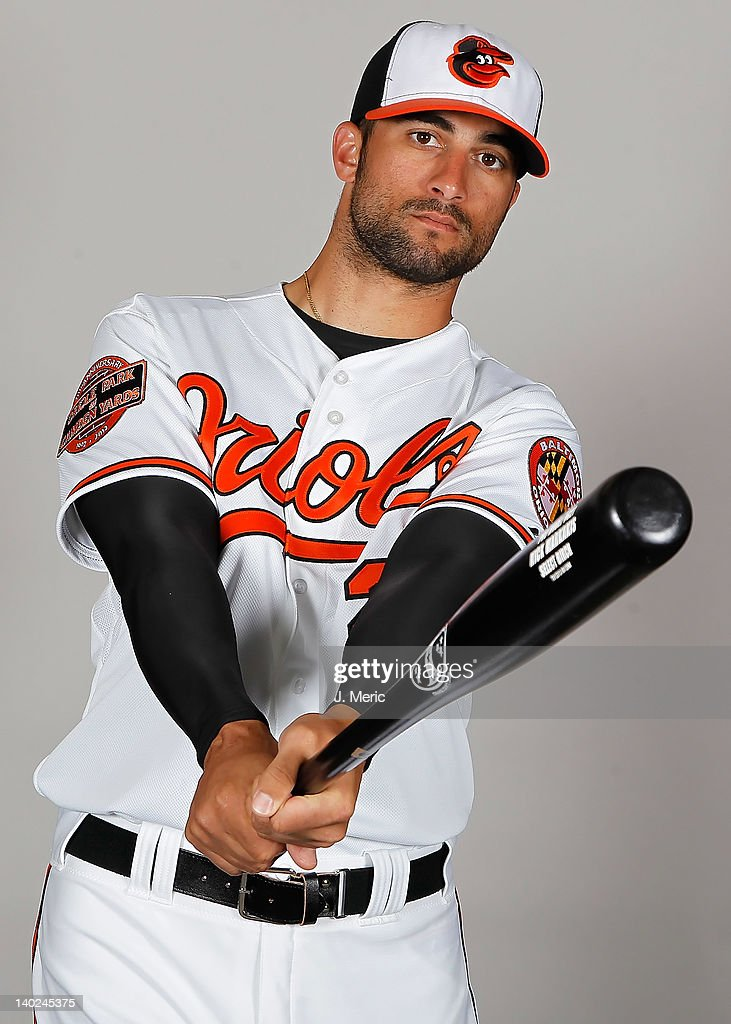 Outfielder Nick Markakis #21 of the Baltimore Orioles poses for a photo during photo day at Ed Smith Stadium on March 1, 2011 in Sarasota, Florida.