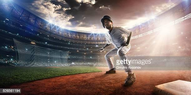 Outfielder on stadium