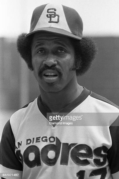 Outfielder Oscar Gamble of the San Diego Padres awaits his turn in the batting cage during batting practice prior to a game on August 16 1978 against...
